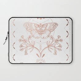 Magical Moth In Rose Gold Laptop Sleeve