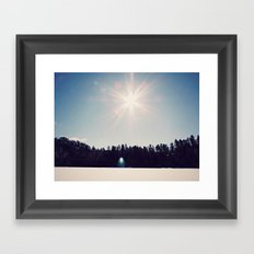 ice+snow+sunshine Framed Art Print