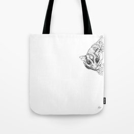 A Sketch :: A Sugar Glider Named Loki Tote Bag