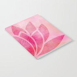 Zen Watercolor Lotus Flower Yoga Symbol Notebook