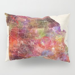 Missouri map Pillow Sham