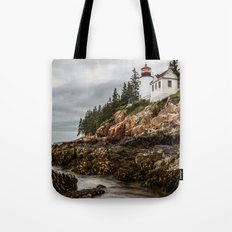Travel Ocean Trees Bass Harbor Lighthouse Acadia National Park Tote Bag