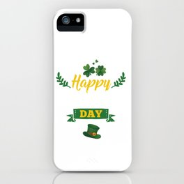 Happy St Patricks Day Leprechaun  iPhone Case