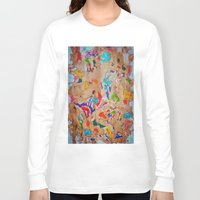 egyptian Long Sleeve T-shirts featuring Egyptian papyrus by Sandra Angelini