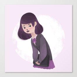 Japanese Schoolgirl Doodle Canvas Print