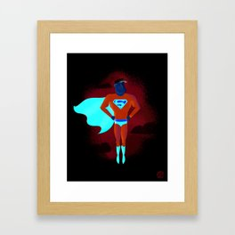 Look! Up in the sky! Framed Art Print