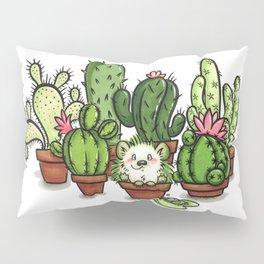Green - Cactus and Hedgehog Pillow Sham