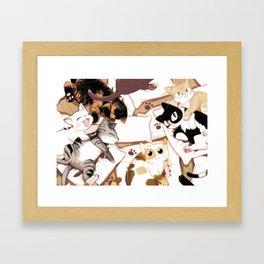 Let's Meow Together Framed Art Print