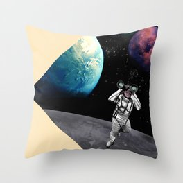 Exploration in Outer Space Throw Pillow