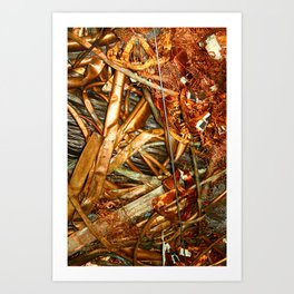 Copper and Metal Abstract Art Print