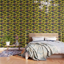 Supreme Camo Yellow Wallpaper
