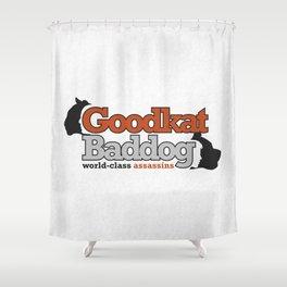 Goodkat & Baddog. Shower Curtain