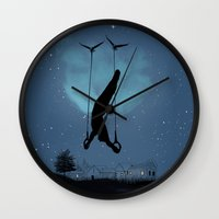 the lord of the rings Wall Clocks featuring Lord of the rings by Balazs Solti