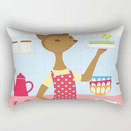 Deer In The Kitchen Rectangular Pillow