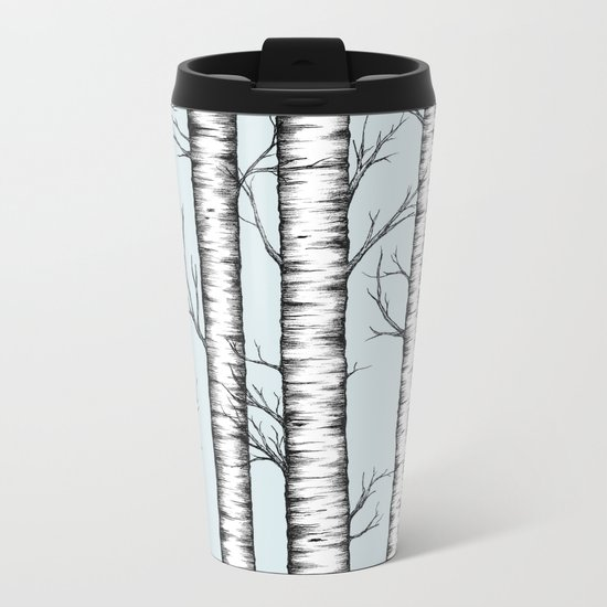Wonderland - Blue Metal Travel Mug
