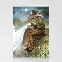"""dragon age inquisition Stationery Cards featuring Dragon Age Inquisition - Cole - Charity by Barbara """"Yuhime"""" Wyrowińska"""