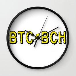 BTC BCH Wall Clock