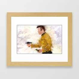 The Captain ( Splatter ) Framed Art Print
