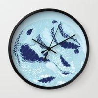 globe Wall Clocks featuring Globe by Jamie Bryan