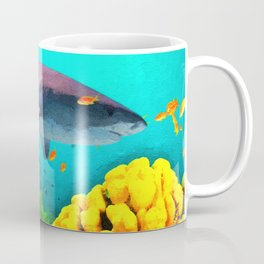 Shark in the water Coffee Mug
