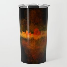 Rome city skyline HQ v04 Dark Travel Mug