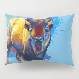 On the Plains - Bison painting Pillow Sham