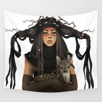 war Wall Tapestries featuring WAR PAINT by ANVIK
