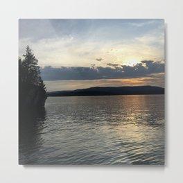 Summer Sunset on Flathead Lake Metal Print