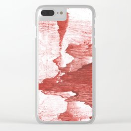 Indian red colored watercolor Clear iPhone Case