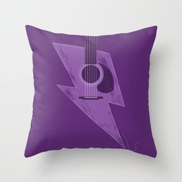 Electric - Acoustic Lightning Throw Pillow