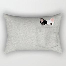 Pocket French Bulldog - Pied Rectangular Pillow