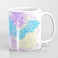 watercolour Mugs featuring Watercolour by Mummy Maid Designs