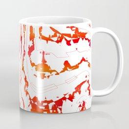 Doodle red lines Coffee Mug