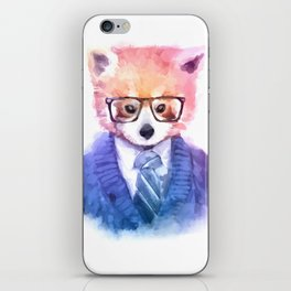 Cute fashion hipster animals pets red panda iPhone Skin