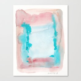 180815 Watercolor Rothko Inspired 9| Colorful Abstract | Modern Watercolor Art Canvas Print