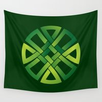 celtic Wall Tapestries featuring Celtic Knot by MaNia Creations