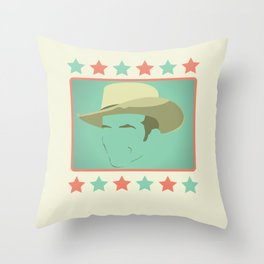 Hank W. Sr. Throw Pillow