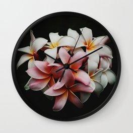 Flowers In The Dark Wall Clock