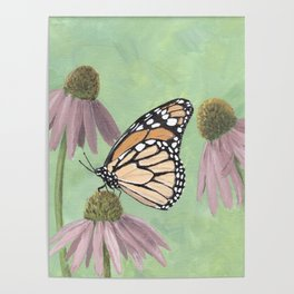 Monarch Butterfly Art, Orange Butterfly Painting Poster