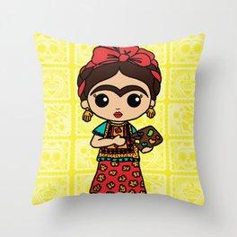 Frida Painting Reality Throw Pillow