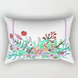 Bordered Bouquet Rectangular Pillow
