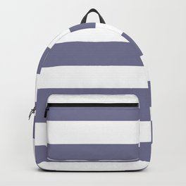 Rhythm - solid color - white stripes pattern Backpack