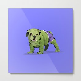 The Incredible Bulldog Metal Print