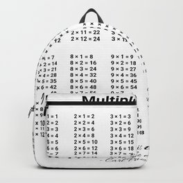Multiplication Table. Arithmetic For All Backpack