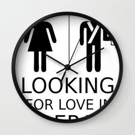 Looking for love in Alderaan places Wall Clock