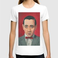 pee wee T-shirts featuring Pee-Wee Herman, A portrait by Jen Holland AKA nerdifer