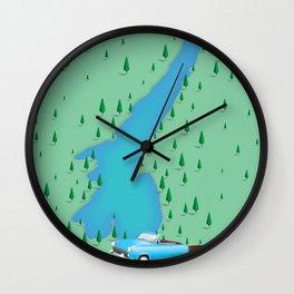 Lake Garda Italy travel poster map Wall Clock