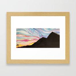 Ciel de couleur Framed Art Print