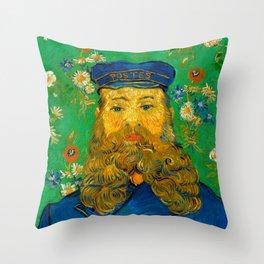 """Vincent van Gogh """"Portrait of Joseph Roulin"""" Throw Pillow"""
