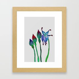 Fantasy Flowers Framed Art Print